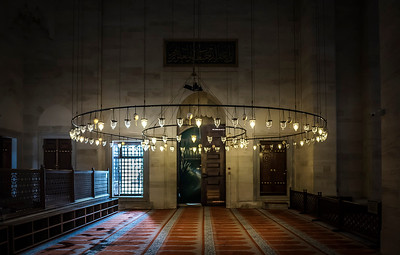 Another beautiful mosque later in the day. Now, THIS is a chandelier!