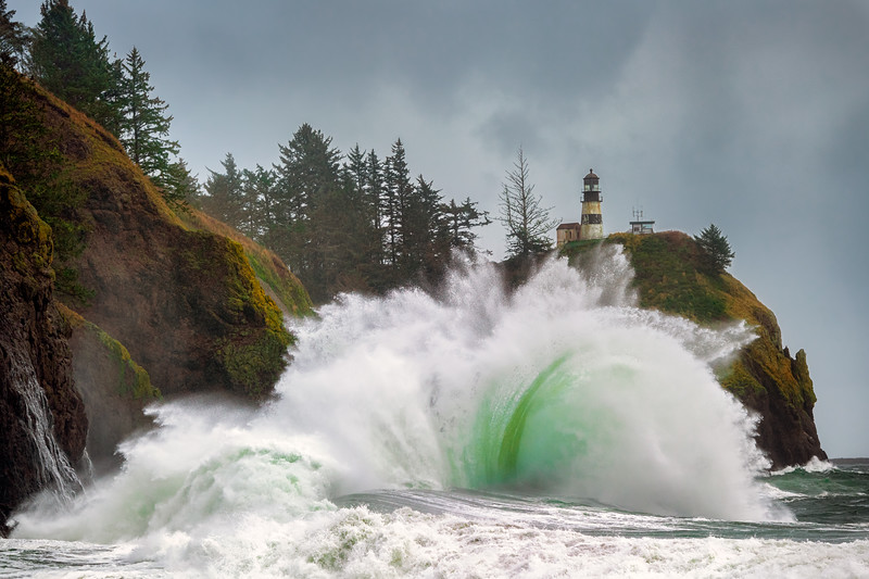 Colorful Waves of a Pacific Storm