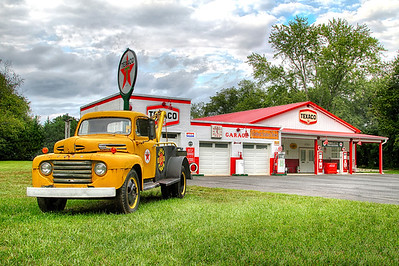 Vintage Ford at the Texaco