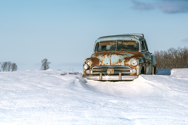 Old Dodge in the Snow