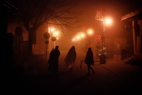 Wlodawa, Poland While you were sleeping.......Observing the frenzied kinetic energy of the streets at night.