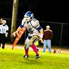 Lunenburg quarterback Austin Stewart keeps the ball on an option during Friday night's win.<br /> NASHOBA VALLEY VOICE/ED NISER