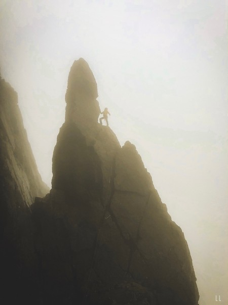 Charlie Woodburn – Napes Needle in the fog