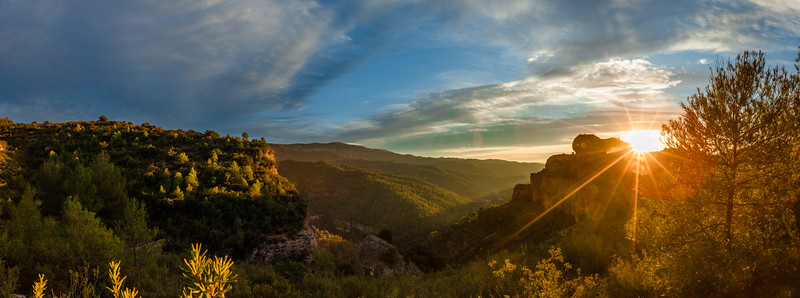 Margalef at sunset