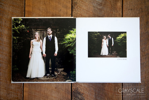 Gorgeous modern flush mount wedding, engagement, and bridal albums custom designed specifically for each client by Grayscale Imagery