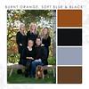 Burnt Orange-Soft Blue-Black
