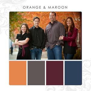Orange-Maroon
