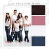 Blue-Pink-Dark Brown