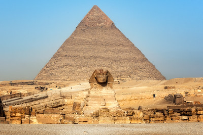 The Pyramid of Khafre and the Sphinx