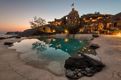 Castle Zaman at sunset