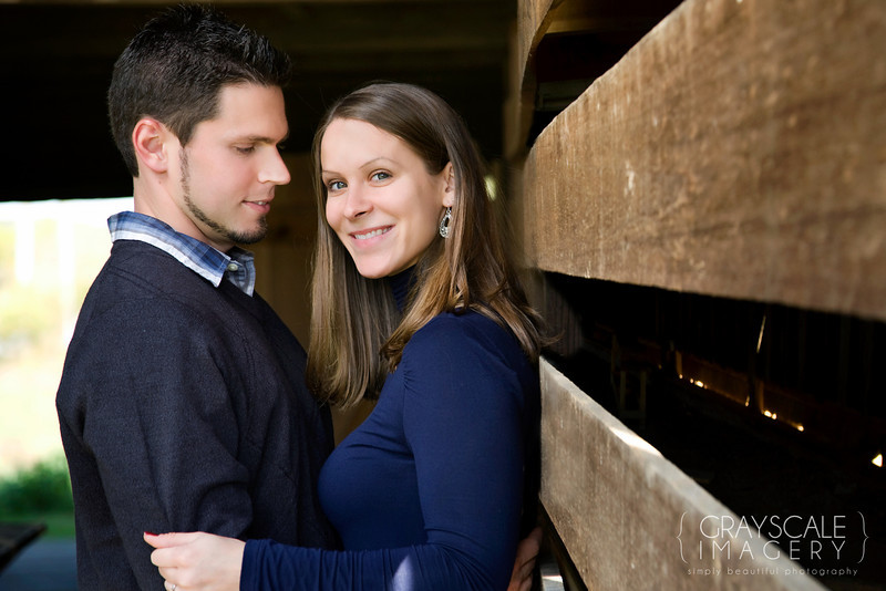 Couple in barn