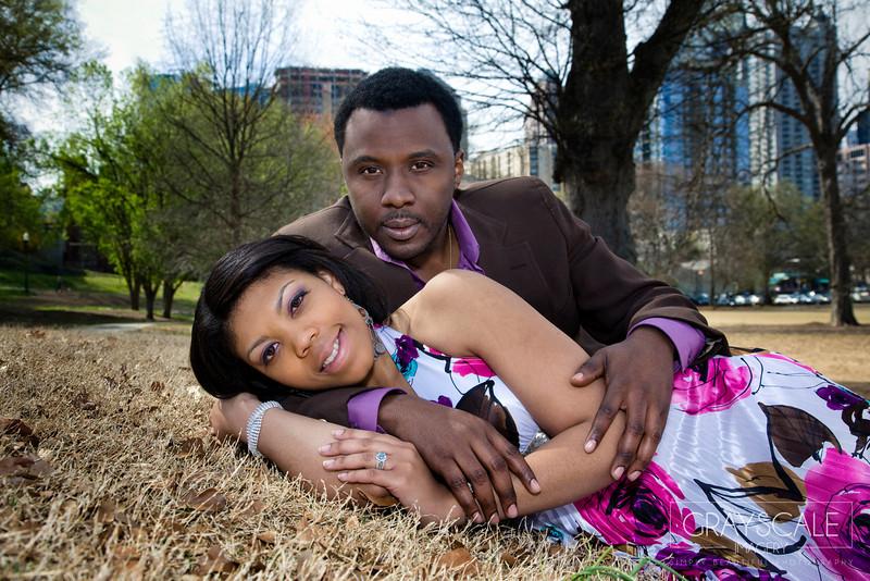 couple at piedmont park