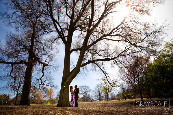 couple dance under tree and sunlight at piedmont park