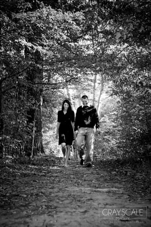 romantic stroll through the woods