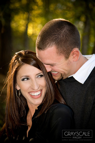 couple laughs together