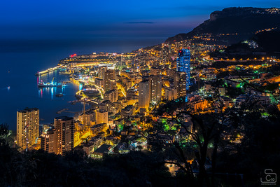 Monte Carlo from above at night