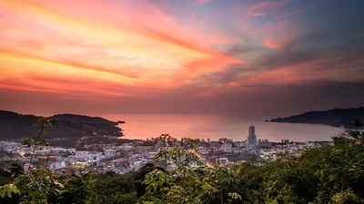 Great view from the hill above Patong Beach