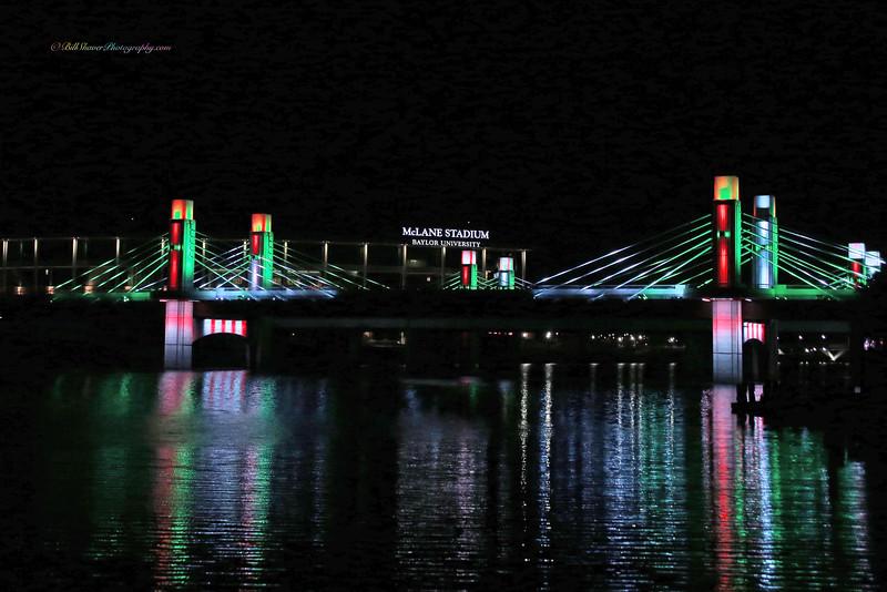 Baylor Stadium & I 35 Bridge (Red & Green)