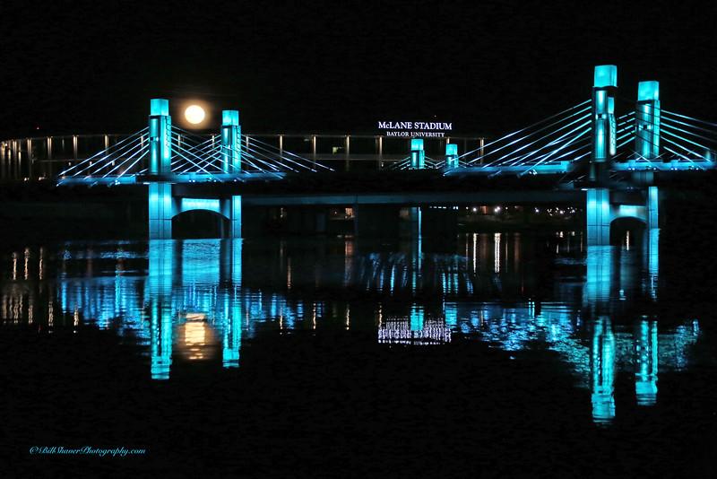 McLane Stadium with Full Moon