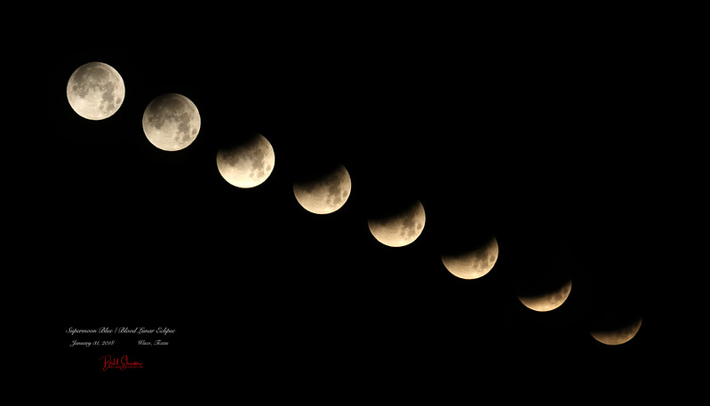 Supermoon Blue / Blood Lunar Eclipse 1/31/2018