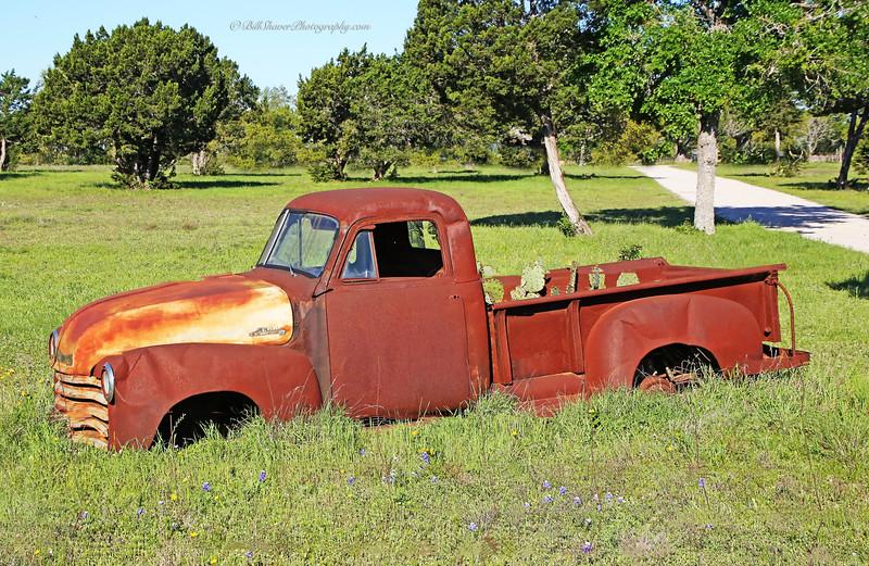 Old Rusty Cactus Truck