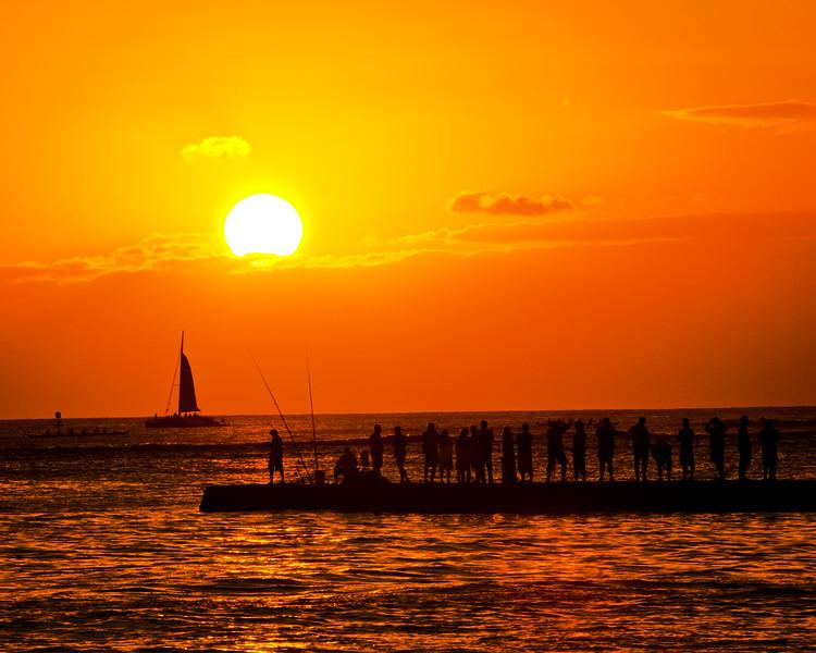 120314 Wakkiki_Sunset 16x20