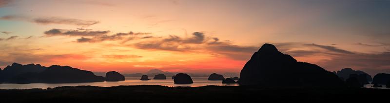 Phang Nga Bay at sunrise