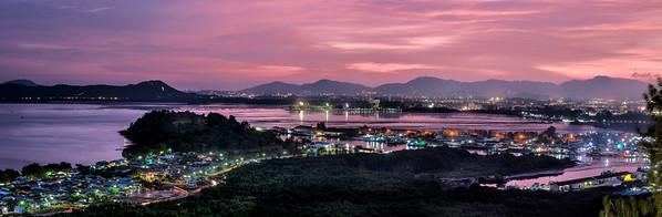 Panoramic view from Wat Koh Sirey