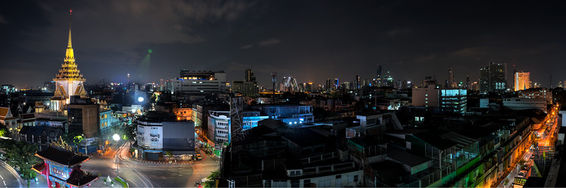 Panoramic view of Chinatown Gate