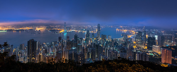 Victoria Peak at sunrise