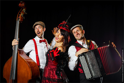 Editorial, 2nd September 2016: Illkirch, Strasbourg, France:  Concert of Christel Kern chanson music band, portraits of musiciens
