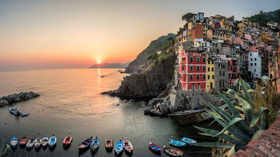 Riomaggiore at sunset