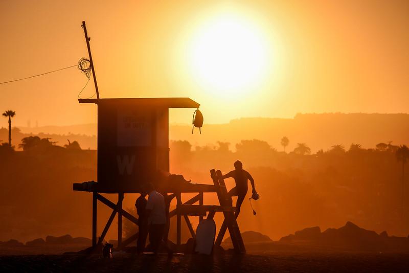 Sunrise at Wedge Newport Beach
