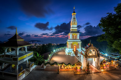 Doi Thepnimit Temple at blue hour