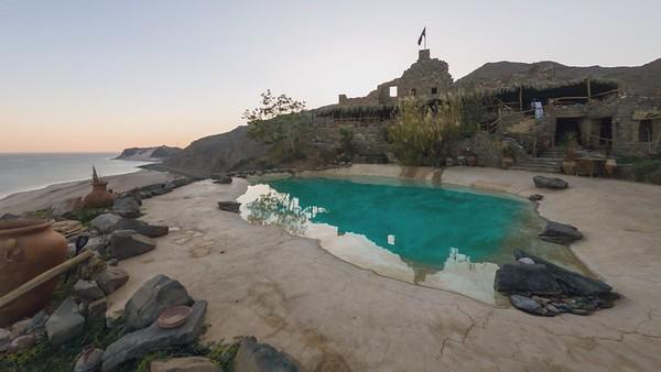Castle Zaman, Egypt, Timelapse at sunset