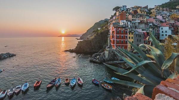 Riomaggiore, Timelapse at sunset
