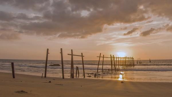Pilai beach, Phang Nga Province, Timelapse at sunset