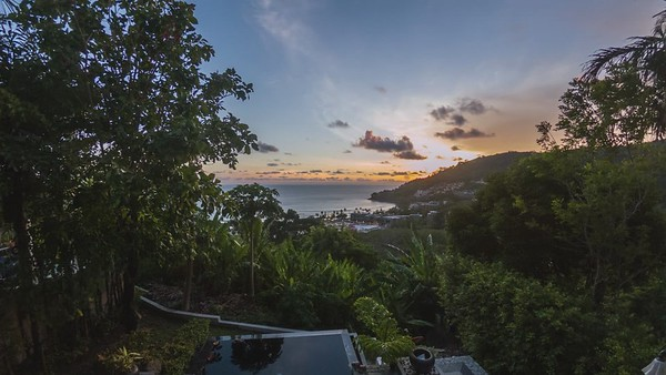 Kalim Beach, home view timelapse at sunset