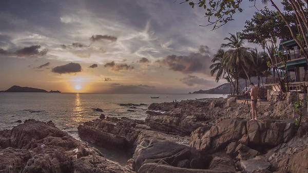 Kalim Beach, Phuket, Timelapse at sunset