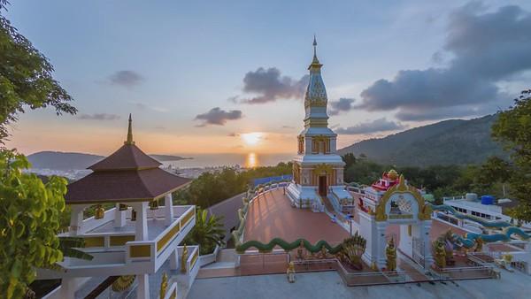 Doi Thepnimit Temple, Phuket, Timelapse at sunset