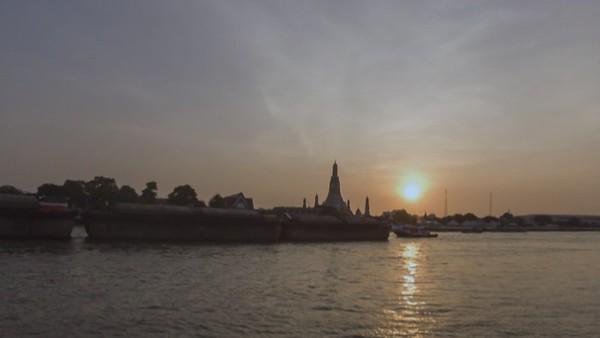 Wat Arun, Bangkok, Timelapse at sunset