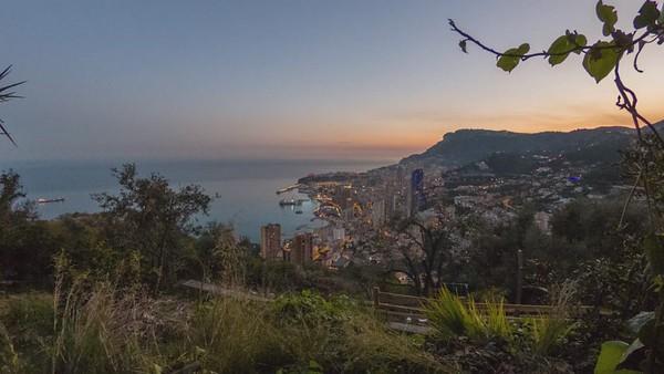 Monte Carlo, Monaco, Timelapse at sunset