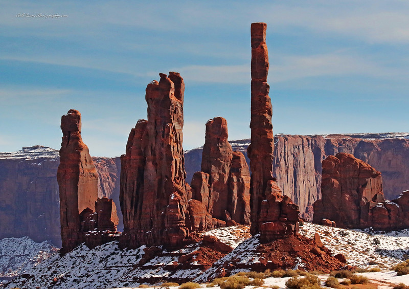Totem Poles - Monument Valley, Arizona-Utah