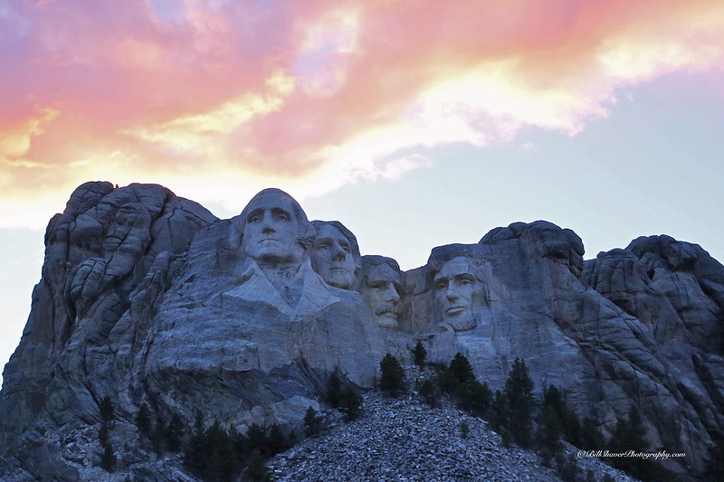Mount Rushmore at the end of the day.
