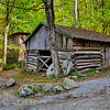 Log Barn & Mill Stones - Smoky Mountains National Park