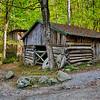 Log Barn & Mill Stones - Smoky Mountains National Park
