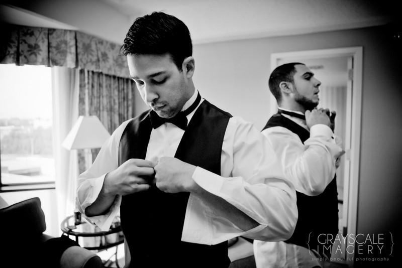 Groom buttons tuxedo vest