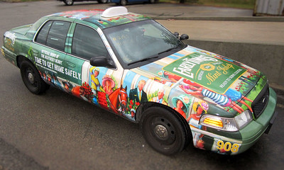 Early Times Derby Themed Cab Wrap