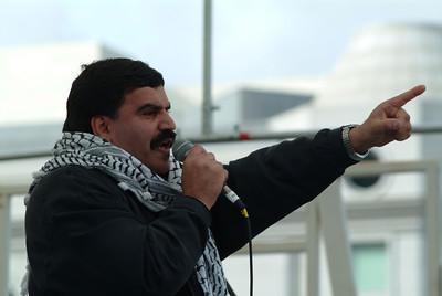 War protest speaker