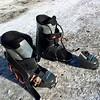 Chaussure cassée nette à la fermeture des crochets...